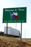 Välkomnande till det Texas tecknet Arkivbild