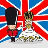 Välkomnande till England folk royaltyfri illustrationer