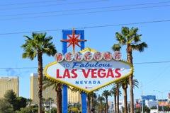 Välkomnande till Fabulos Las Vegas arkivfoton