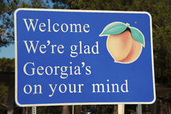 Välkomnande till Georgia Arkivfoton
