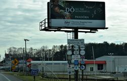 Välkomnande till Hannover, Pennsylvania på rutt 94 S Arkivfoton