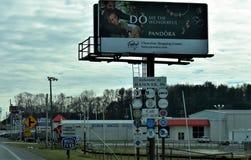 Välkomnande till Hannover, Pennsylvania på rutt 94 S Royaltyfri Foto