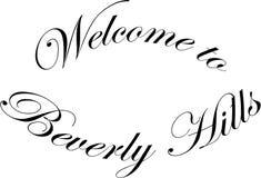 Välkomnande till illustrationen för Beverly Hills California textsogm royaltyfri illustrationer