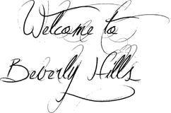 Välkomnande till illustrationen för Beverly Hills California textsogm vektor illustrationer