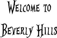 Välkomnande till illustrationen för Beverly Hills California texttecken royaltyfri illustrationer