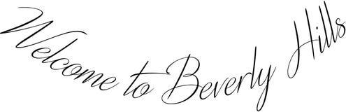 Välkomnande till illustrationen för Beverly Hills California texttecken vektor illustrationer