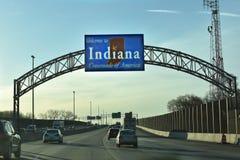 Välkomnande till Indiana arkivfoto