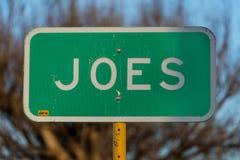 Välkomnande till Joes Colorado, liten stad, huvudväg 36, östliga Colorado Arkivbilder