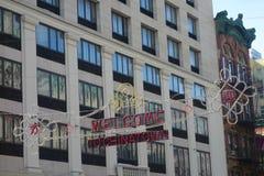 Välkomnande till kineskvarteret royaltyfria foton