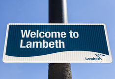Välkomnande till Lambeth Royaltyfria Foton