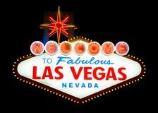 Välkomnande till Las Vegas Arkivfoto