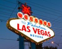 Välkomnande till Las Vegas Royaltyfri Bild