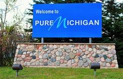 Välkomnande till Michigan Royaltyfria Bilder