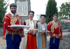 Välkomnande till Montenegro Arkivbild