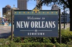 Välkomnande till New Orleans Royaltyfri Bild