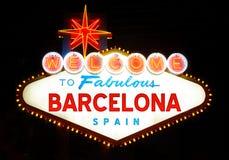 Välkomnande till sagolika Barcelona Royaltyfri Bild