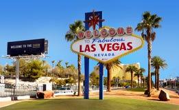 Välkomnande till sagolika Las Vegas, Nevada Royaltyfri Fotografi