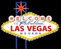 Välkomnande till sagolika Las Vegas Nevada Sign Royaltyfri Bild