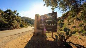 Välkomnande till Simi Valley royaltyfri bild