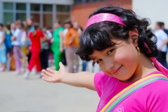 Välkomnande till skolan fotografering för bildbyråer