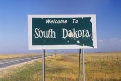 Välkomnande till South Dakota arkivfoton