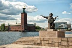Välkomnande till Stockholm Royaltyfri Fotografi