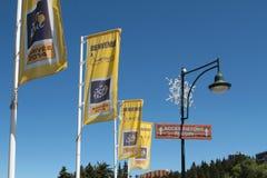 Välkomnande till Touret De France Royaltyfria Bilder