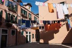 Välkomnande till Venedig Arkivfoto