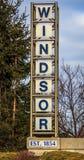 Välkomnande till Windsor EST 1854 Arkivfoto