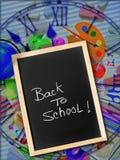 Välkomnande tillbaka till skolan Arkivfoto