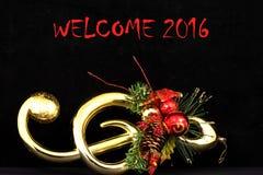 Välkomnandebakgrund 2016 och textur Arkivfoto
