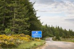 Välkomnandet till Aberdeenshire undertecknar in Skottland Royaltyfri Fotografi