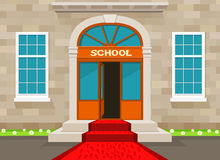 Välkomnandet till skolar Arkivbild