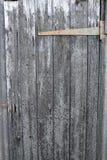 Välla fram åldriga träplankor - dörr med gångjärnet Royaltyfri Fotografi