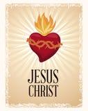 välsignad ande för sakral hjärta vektor illustrationer
