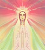 Välsignad jungfruliga Mary stående Arkivfoton