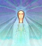 Välsignad jungfruliga Mary stående Royaltyfri Bild