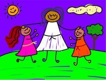 välsignade ungar vektor illustrationer