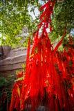 Välsignelse av Kina den röda torkduken Royaltyfri Foto