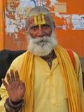 välsignelser ger hinduisk sadhu Royaltyfria Bilder