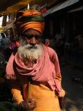 välsignelser ger hinduisk sadhu Royaltyfri Fotografi