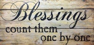 Välsignelser räknar dem en och en Fotografering för Bildbyråer