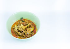 Välsmakande curry med griskött Arkivfoto