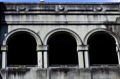 välva sig betong Arkivfoto