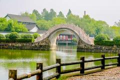 Välva sig bron av Shucheng royaltyfri bild