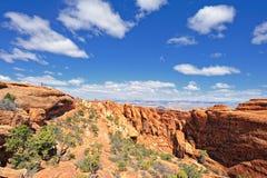 välva sig den fotvandra nationalparken Royaltyfria Bilder