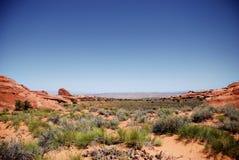 välva sig den moab nationalparken Royaltyfri Bild