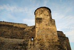 välva sig för greece för stadsfästningfragmentet rhodes för monks för lindos för ön ionitov väggar fotografering för bildbyråer
