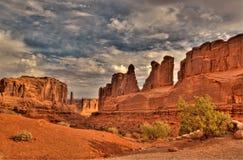 välva sig nationalparken USA utah Arkivfoton