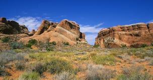välva sig nationalparken utah Fotografering för Bildbyråer